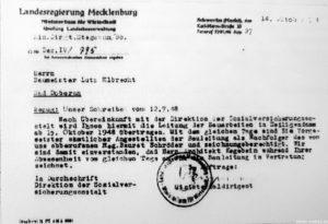 Auftrag der SVA an Lutz Elbrecht