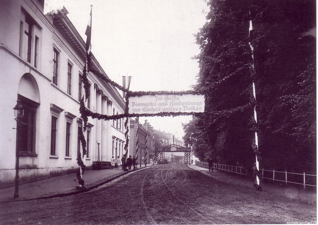 Bad Doberan empfängt den Reichspräsidenten Hindenburg.