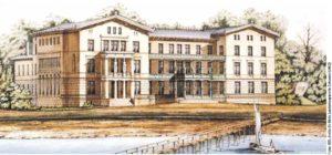 Optisch orientiert sich dieser an einem Entwurf von 1853 des Architekten Rudeloff.