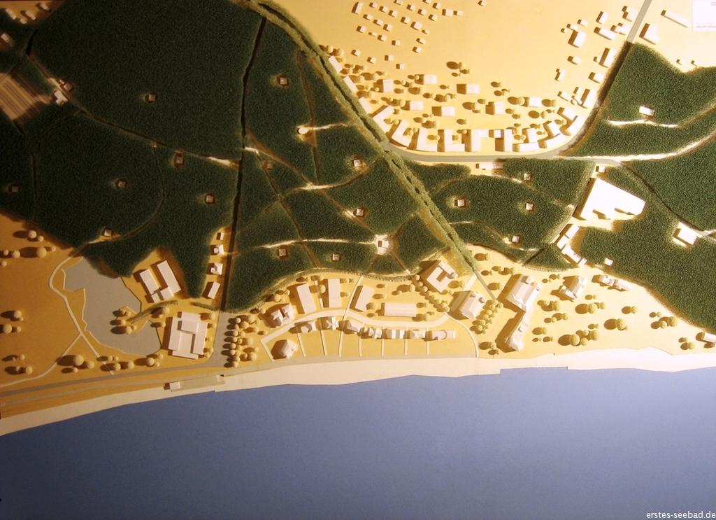 Eines der ersten Modelle für den Ausbau Heiligendamms