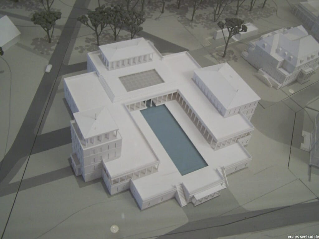 Modell des Thalasso-Tempels an der Seedeichstraße