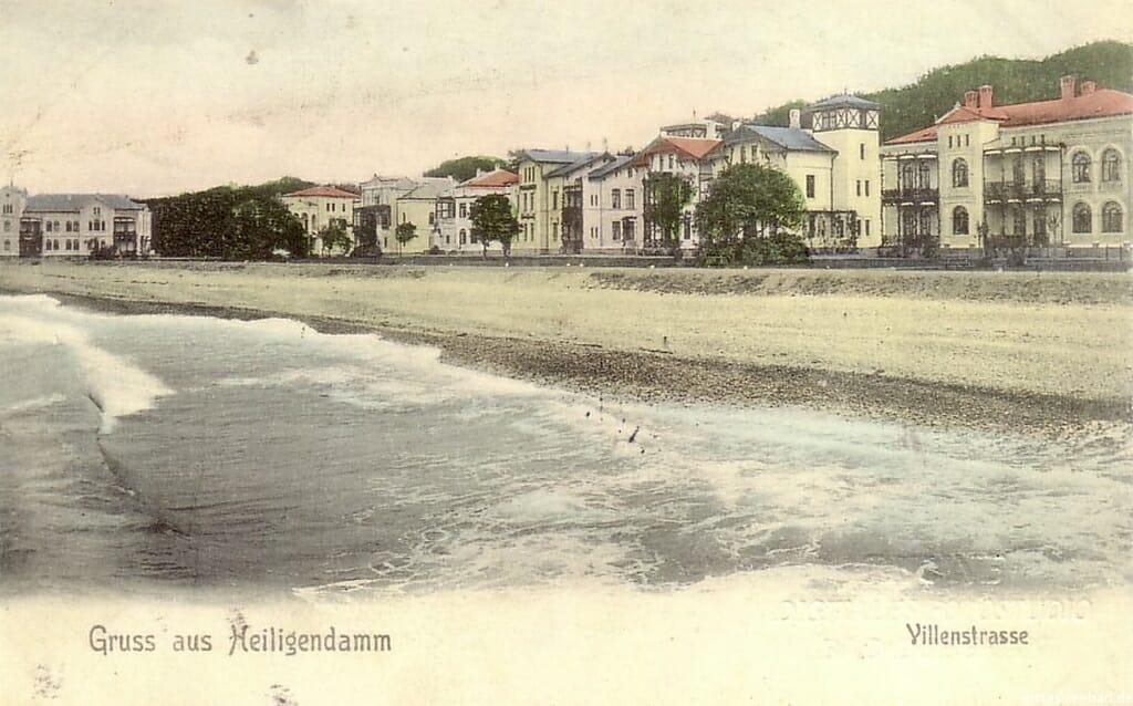 Villenreihe nach seiner Fertigstellung Ende des 19. Jahrhunderts