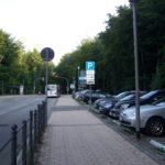 Parkplatz gegenüber vom Grand Hotel Heiligendamm mit P+R Park and Ride.