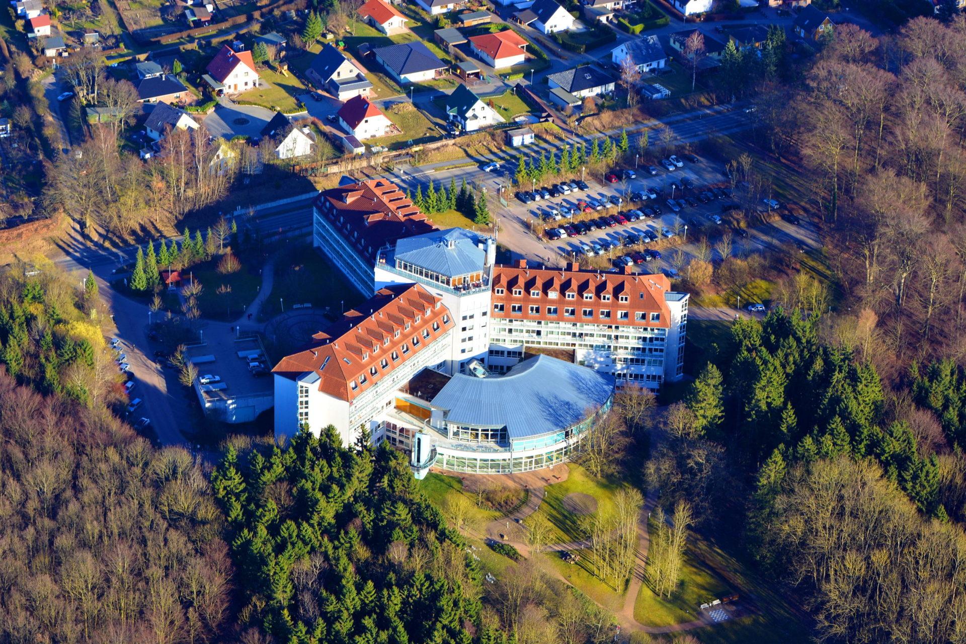 Luftbild von der Dr.-Ebel-Klinik Moorbad Bad Doberan